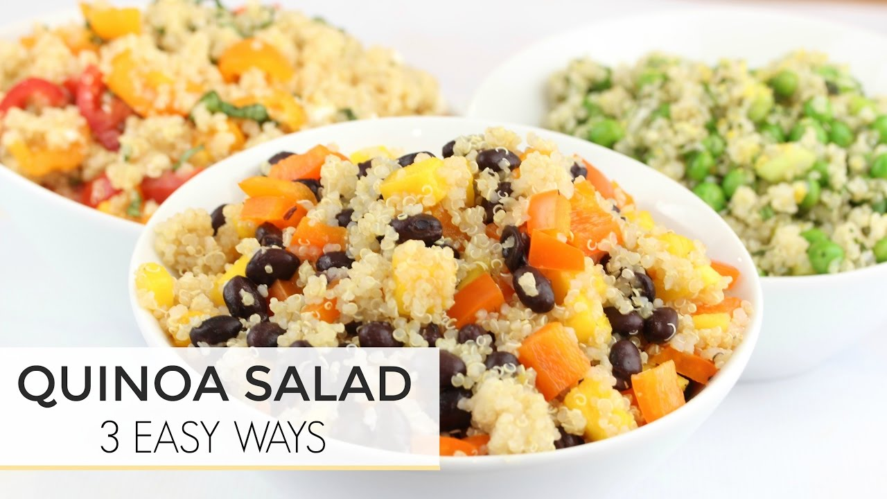 3 Easy Healthy Quinoa Salad Recipes | Just 5 Ingredients - YouTube