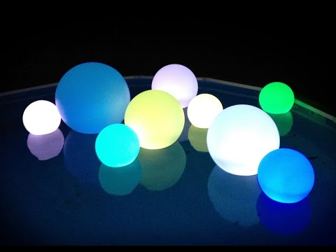 "40 Color Changing LED's Light Up Decoration Balls 40"" 40"" 40 New Pool Ball Decorations"