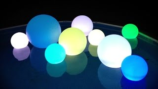 "16 Color Changing Led's Light Up Decoration Balls - 10"", 12"", 14"", 16"", 23""   Inch"