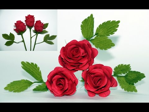 Flowers Making How To Make Paper Flowers Rose Crepe Paper Rose Flower Diy Paper Rose Julia Diy Youtube
