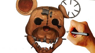 How to draw rat from Five Nights at Candy