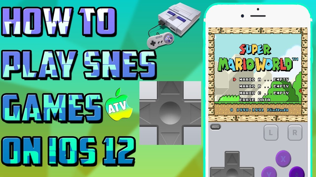 HOW TO PLAY SNES GAMES ON IOS 12 NO JAILBREAK/PLAY SUPER NINTENDO GAMES ON  YOUR IOS DEVICE
