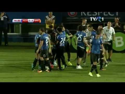 Cristi Ganea, gol superb cu APOEL