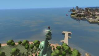 How to stand on the top of the statue of liberty in GTA 4
