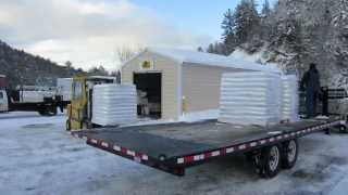 Vermont Wood Pellet Delivery - 142 - My Diy Garage Build Hd Time Lapse
