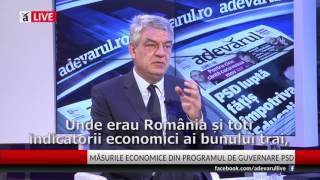 """Mihai Tudose @ Adevărul LIVE """"Prestaţia Guvernului Cioloş, jenantă"""""""