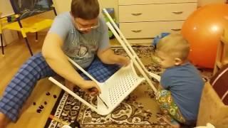 Сборка стула АДДЕ из IKEA