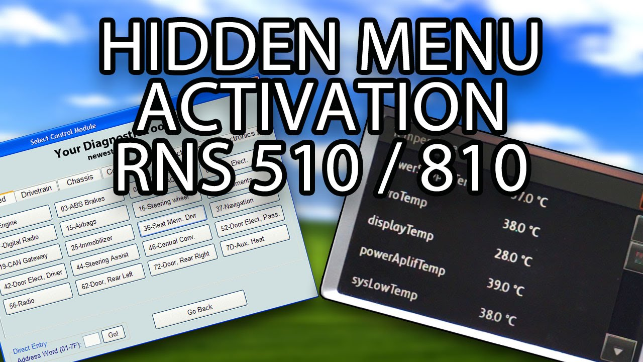 How To Activate Hidden Menu Rns 510 810 Columbus Mfd3