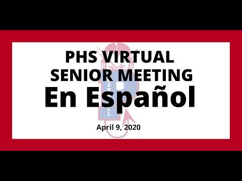 Peekskill High School Senior Virtual Meeting  (En Español)