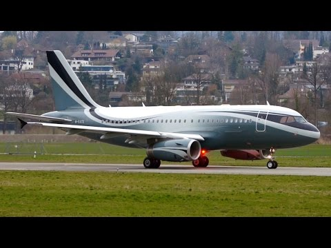Stunning Livery! Airbus A319 M-KATE Take-Off at Bern