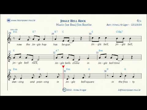 Jingle Bell Rock Lyrics Sheet Music Karaoke Chords Youtube