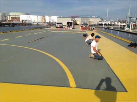 Helipad and Hangar Flooring | Pier 7 Epoxy Flooring Job in Baltimore, MD