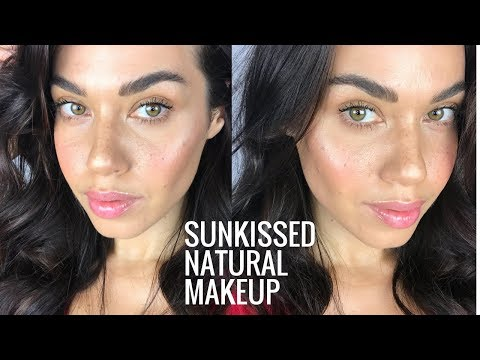 Sunkissed Natural Makeup with Faux Freckles