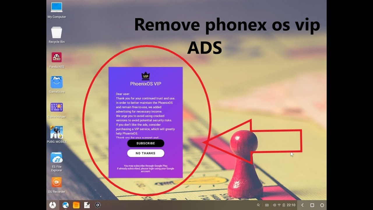 phoenix os remove vip ads easy method