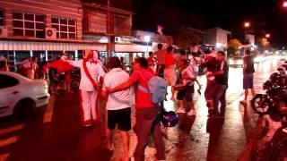 Festejos de hinchas de River en la Ciudad de Puerto Rico, Misiones