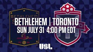 Bethlehem Steel FC vs Toronto FC USL full match