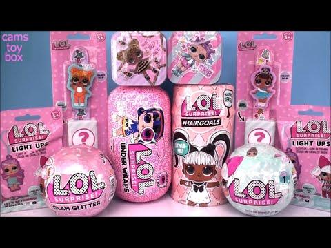 LOL HAIRGOALS UNDER WRAPS Glam Glitter Surprise Dolls Series 4 5 1 Blind Bags Unboxing Makeover