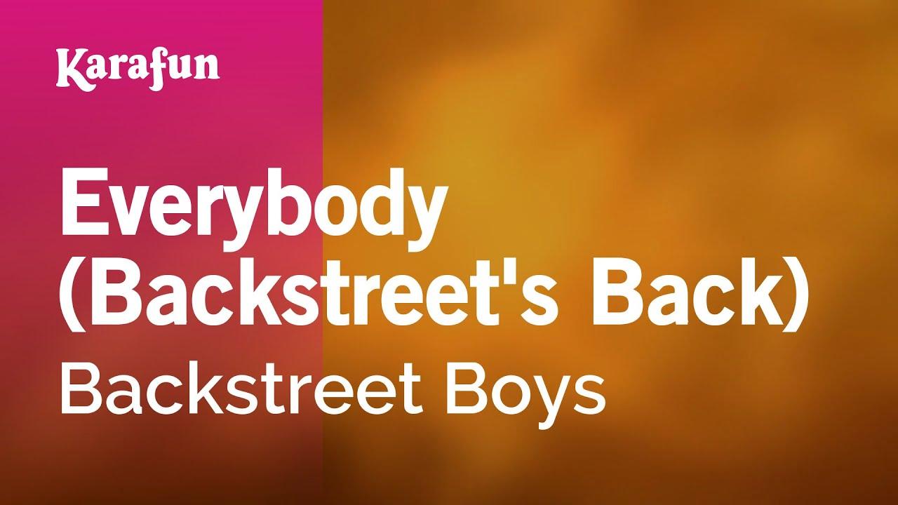 Everybody (Backstreet's Back) - Backstreet Boys | Karaoke Version | KaraFun