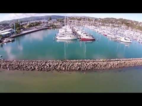 Aerial video Entrance to Porirua Harbour