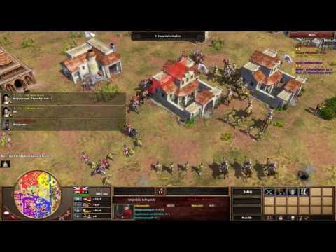 Age of Empires III Multiplayer - 2vs2 mit Vertrag #4 [Deutsch/Full HD]