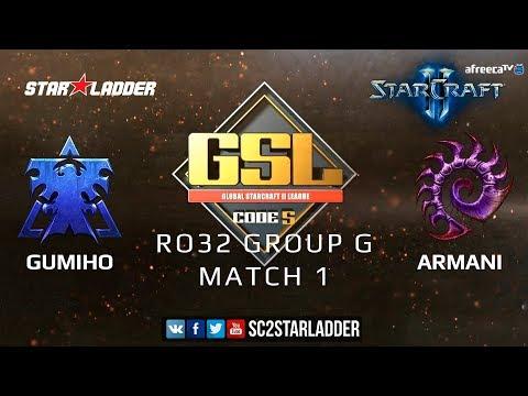 2019 GSL Season 3 Ro32 Group G Match 1: GuMiho (T) Vs Armani (Z)