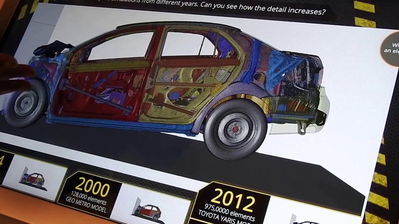Car Crash Simulation At The Computer History Museum