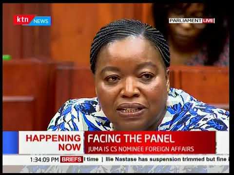 Nominated Cabinet Secretaries' vetting: Dr Monica Juma