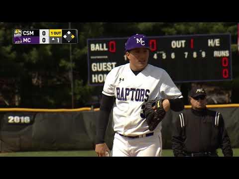 MC Raptors Baseball vs College of Southern Maryland Hawks, 4/19/18