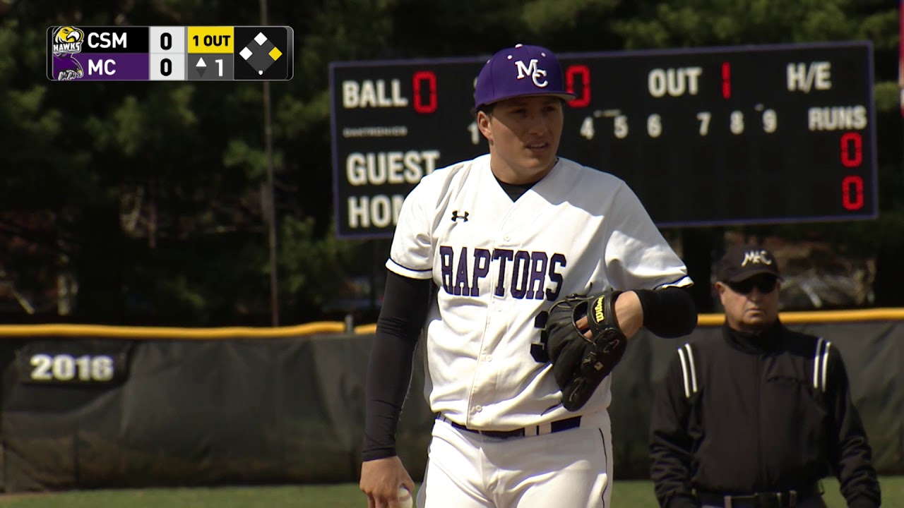 Mc Raptors Baseball Vs College Of Southern Maryland Hawks 4 19 18 Youtube