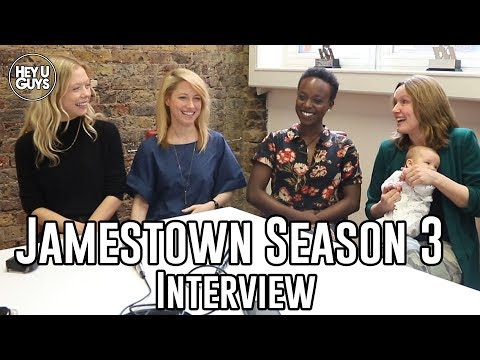 Naomi Battrick, Niamh Walsh, Abiola Ogunbiyi & Claire Cox on Jamestown Season 3