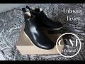 Clarks Men's Desert Peak Black Leather Boot Unboxing + Review  (on feet)