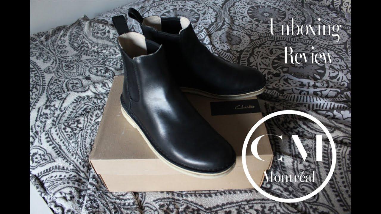 d40b232cfd4 Clarks Men's Desert Peak Black Leather Boot Unboxing + Review (on feet)