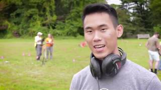 Princeton Battlefield Scene: Metal detecting with Ethan