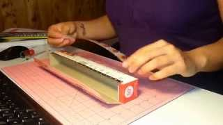 how to make a washi tape dispenser with an aluminium foil or plastic wrap box