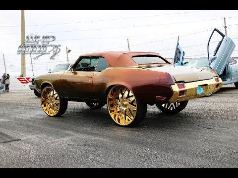 WhipAddict: 72' Oldsmobile Cutlass Convertible On All Gold 30s! Dash Swap, Kameleon Paint