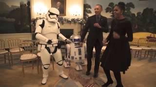 """أوباما يرقص مع أبطال """"حرب النجوم"""""""
