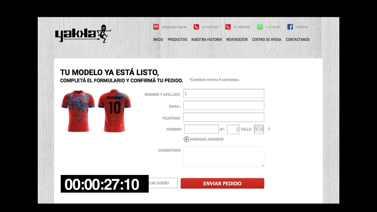 Diseñador Web de camisetas Yakka - YouTube f72a7b01ed680