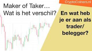 Maker / Taker - wat is het verschil?