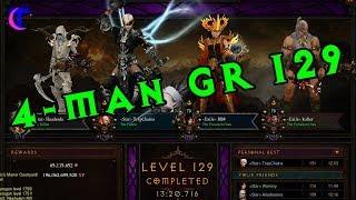 Diablo III Season 15 Gameplay - 4man Greater Rift 129