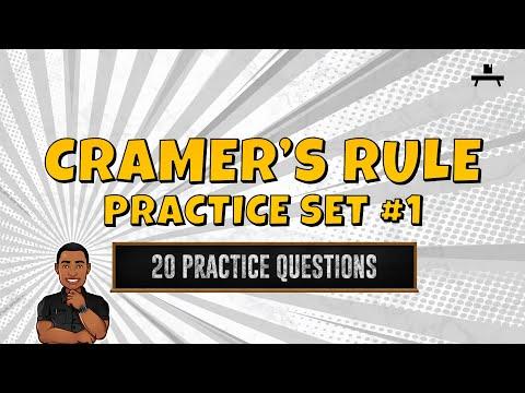 Algebra: Cramer's Rule Practice Set #1