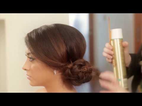 Braided Side Chignon - Julianne Kaye