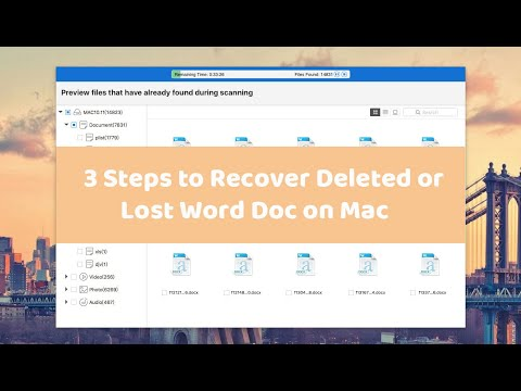 3 Steps To Recover Deleted Or Lost Word Document On Mac