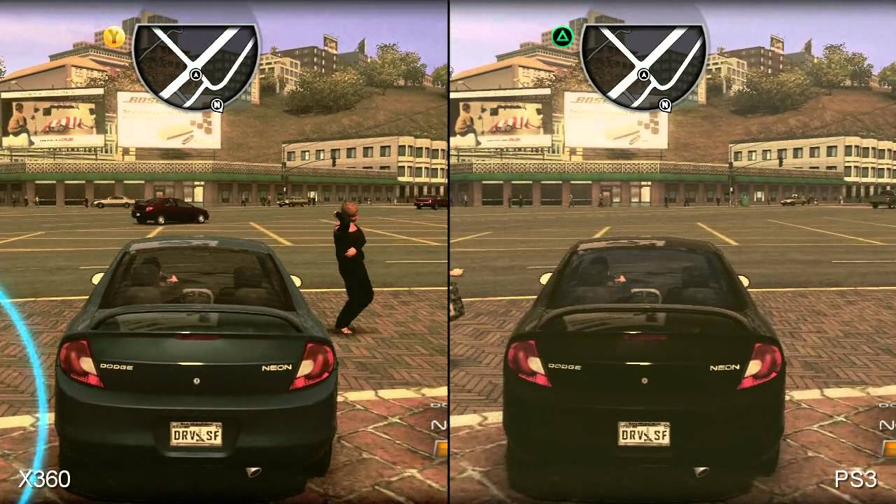 Driver San Francisco 360 Vs Ps3 Comparison Hd Youtube