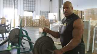 Ronnie Coleman Lifting on UsedGymEquipment.com Gym Equipment in His PRIVATE GYM!