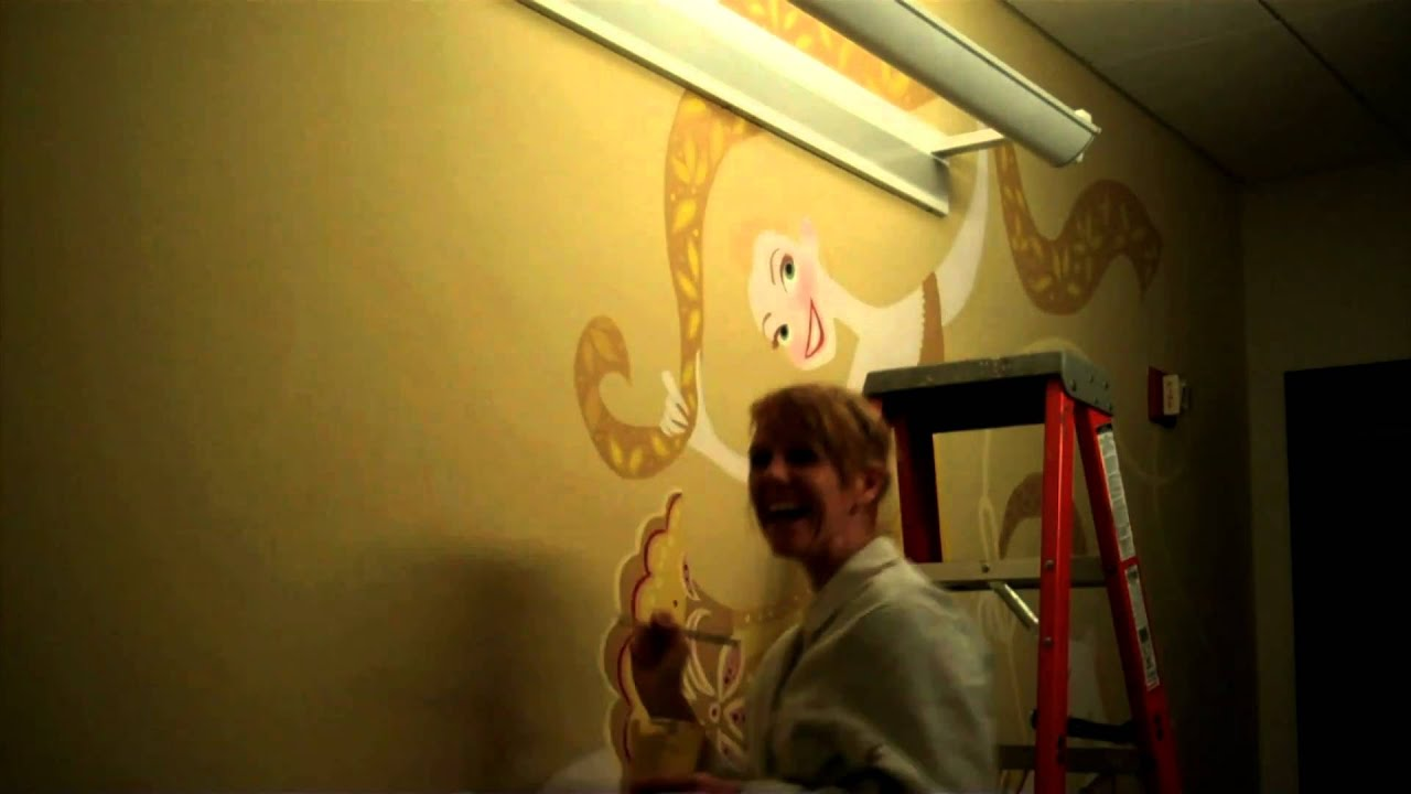 tangled disney art department wall mural youtube