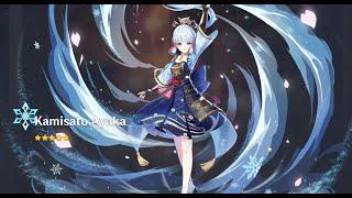 Genshin Impact gacha ayaka banner, f2p pull ayaka from zero pity