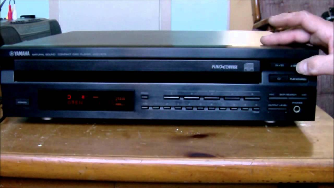yamaha 5 disc cd player youtube. Black Bedroom Furniture Sets. Home Design Ideas