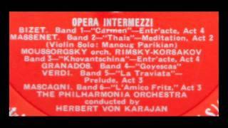Massenet / Manoug Parikian / Herbert von Karajan, 1955: Méditation de Thaïs; Carmen Intermezzo