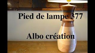 Création pied de lampe. 377.
