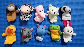 Styleys Animal Finger Puppets - Multicolour Set of 10
